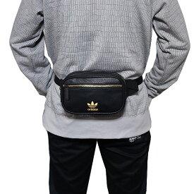 163a59b7fd アディダス オリジナルス ウエストポーチ PU レザー ブラック ゴールド ファニーパック adidas Originals PU Leather  Waist