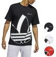 アディダスTシャツメンズ半袖ブラック/ホワイト/レッドビッグトレフォイルショートスリーブTシャツadidasOriginalsBigTrefoilT-Shirt
