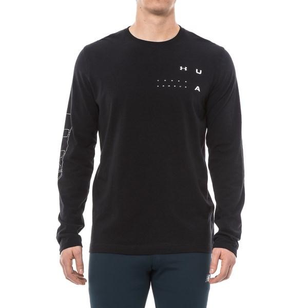 アンダーアーマー メンズ ディスタンクシオン ヒートギア グラフィック ロングスリーブ Tシャツ ブラック Under Armour Men's Distinction HeatGear Graphic T-Shirt Long Sleeve Black