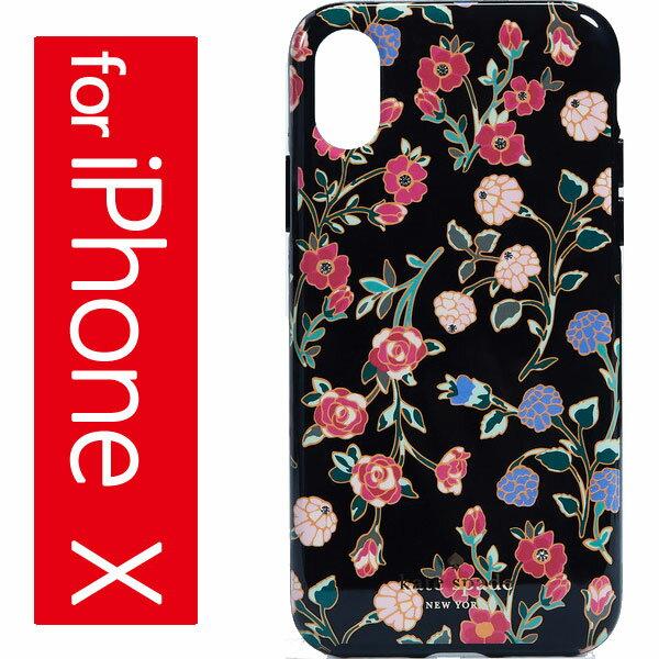 Kate Spade New York Crystal Mini Bloom iPhone X Case ケイトスペード クリスタル ミニ ブルーム iPhone X ケース BlackMulti