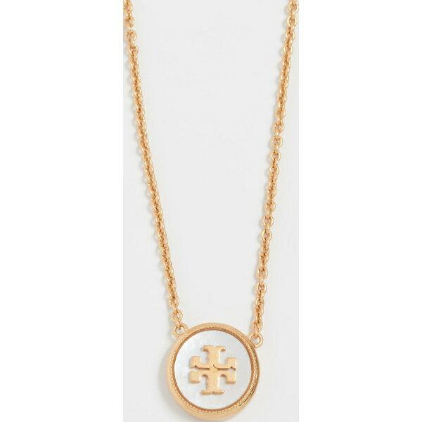 (取寄)Tory Burch Semi Precious Pendant Necklace トリーバーチ セミ プレシャス ペンダント ネックレス MotherofPearlGold