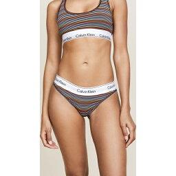(索取)Calvin Klein Underwear Womens Prism Stripe Bikini Panties CK內衣女士棱鏡條紋比基尼內褲PrismStripePrintBlack