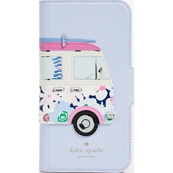 (取寄)Kate Spade New York Surf Van Applique Folio iPhone X Case ケイトスペード サーフ ヴァン アップリケ フォリオ iPhone X ケース BlueMulti