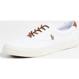 【クーポンで最大2000円OFF】(取寄)ポロ ラルフローレン ソートン ロウ トップ スニーカー Polo Ralph Lauren Thorton Low Top Sneakers White