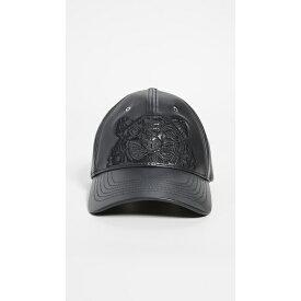 (取寄)ケンゾー レザー タイガー ハット KENZO Leather Tiger Hat Black