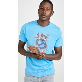 (取寄)ケンゾー ドラゴン プリント ティー シャツ KENZO Dragon Print Tee Shirt Blue