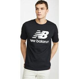 【クーポンで最大2000円OFF】(取寄)ニューバランス メンズ エッセンシャル スタック ロゴ ティー New Balance Men's Essentials Stacked Logo Tee Black