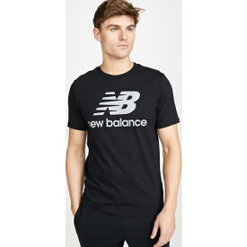 【クーポンで最大2000円OFF】(取寄)ニューバランス メンズ リフレクティブ ロゴ Tシャツ New Balance Men's Reflective Logo T-Shirt Black
