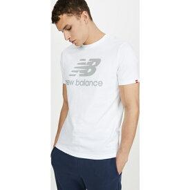 【クーポンで最大2000円OFF】(取寄)ニューバランス メンズ リフレクティブ ロゴ Tシャツ New Balance Men's Reflective Logo T-Shirt White