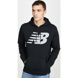 【クーポンで最大2000円OFF】(取寄)ニューバランス メンズ リフレクティブ ロゴ フーディ New Balance Men's Reflective Logo Hoodie Black