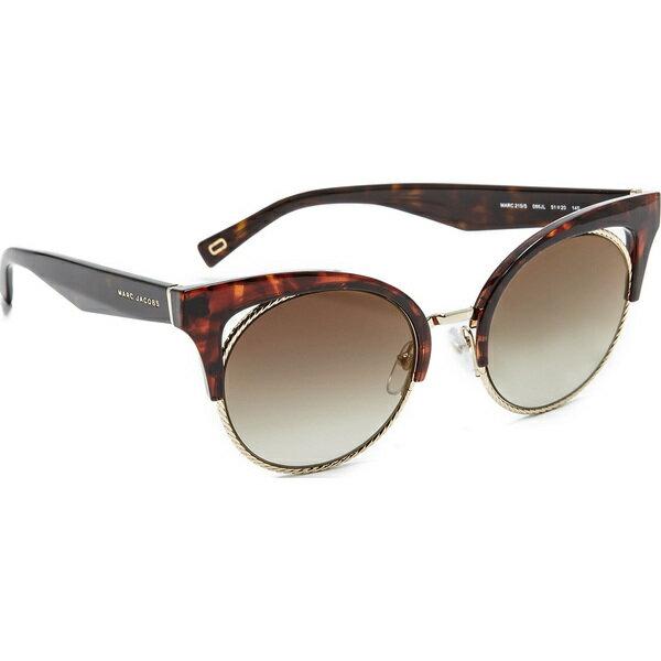 (取寄)Marc Jacobs Rope Rim Sunglasses マークジェイコブス ロープ リム サングラス Dark Havana/Brown