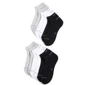 カルバンクライン 靴下 ソックス 6足セット メンズ ブラック/ホワイト/グレー アンダーウェア 6パック ライナー スポーツ スニーカーソックス Calvin Klein Underwear 6 Pack Liner Sport Socks Grey White Black