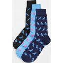 (取寄)ポールスミス ディノ パックス ソックス Paul Smith Dino Packs Socks Multi