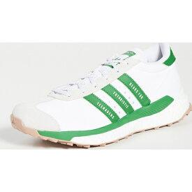 アディダス ヒューマンメイド カントリー 限定モデル スニーカー メンズ レザー 白 緑 コラボモデル フリー ハイカー スニーカー adidas Men's x Human Made Country Free Hiker Sneakers Ftwwht Green Owhite 送料無料