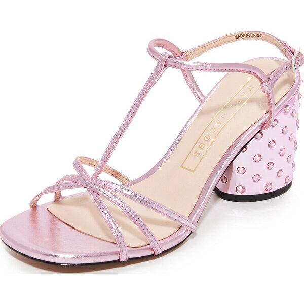 (取寄)Marc Jacobs Women's Sheena T-Strap Sandals マークジェイコブス レディース シーナ Tストラップ サンダル Pink