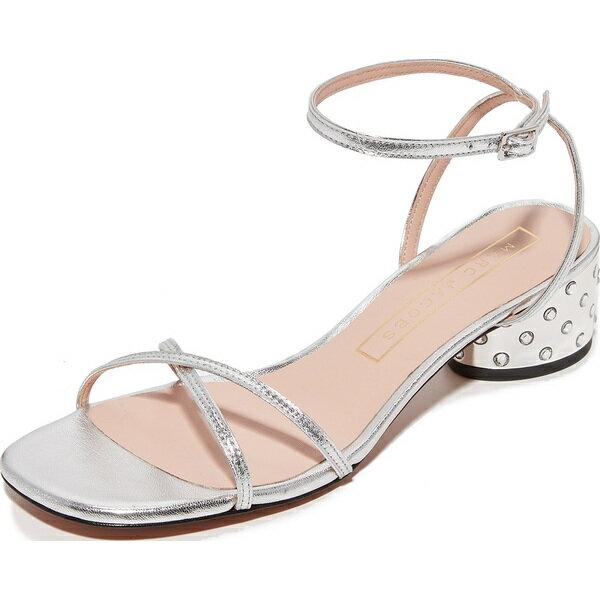 (取寄)Marc Jacobs Sybil Ankle Strap Sandals マークジェイコブス シビル アンクル ストラップ サンダル Silver