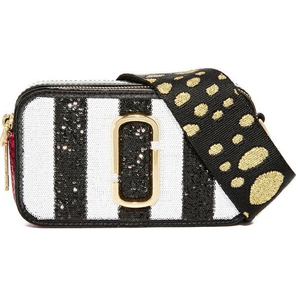 (取寄)Marc Jacobs Sequin Stripes Snapshot Camera Bag マークジェイコブス シークイン ストライプ スナップショット カメラ バッグ Black Multi