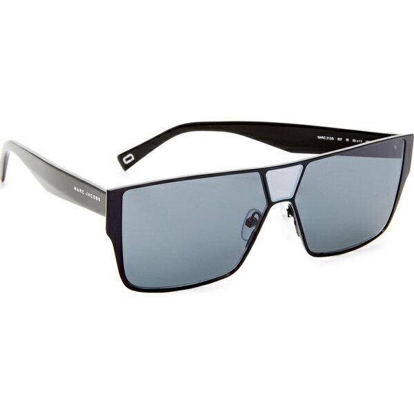 (取寄)Marc Jacobs Flat Top Sunglasses マークジェイコブス フラッツ トップ サングラス Black/Grey Blue
