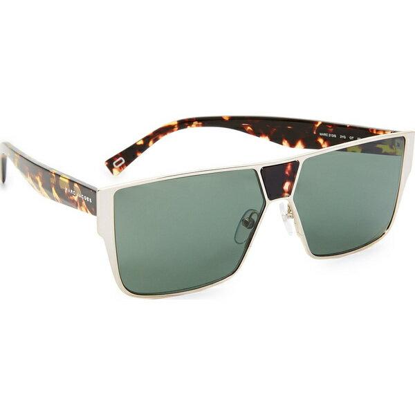 (取寄)Marc Jacobs Flat Top Sunglasses マークジェイコブス フラッツ トップ サングラス Light Gold/Green