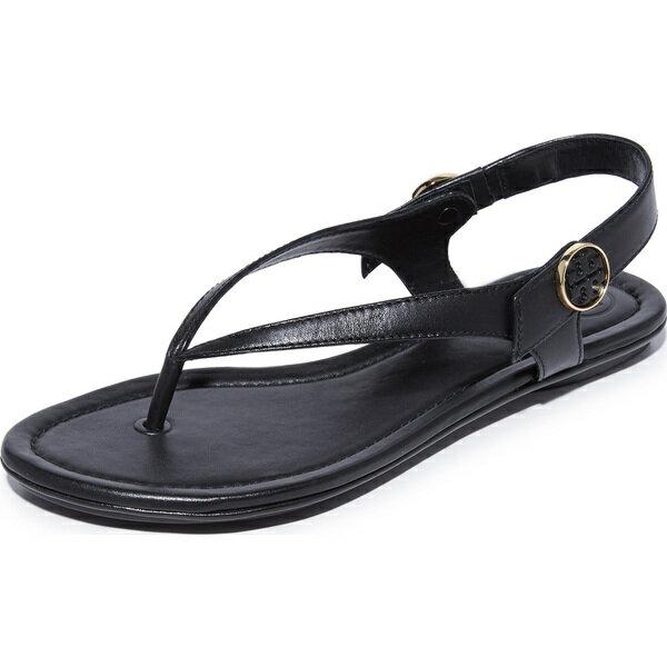 (取寄)Tory Burch Women's Minnie Travel Sandals トリーバーチ レディース ミニー トラベル サンダル Black