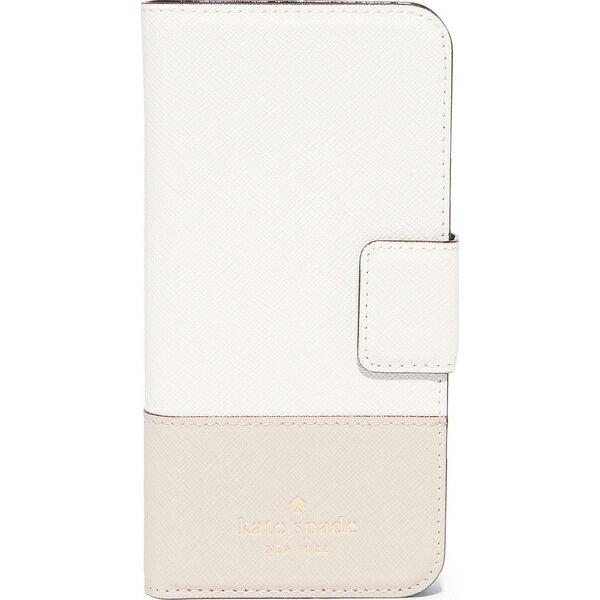 ケイトスペード iPhone7 ケース 手帳型 レザー Kate Spade New York Leather Wrap Folio iPhone 7 Case ケイトスペード レザー ラップ フォリオ Cement/Tusk