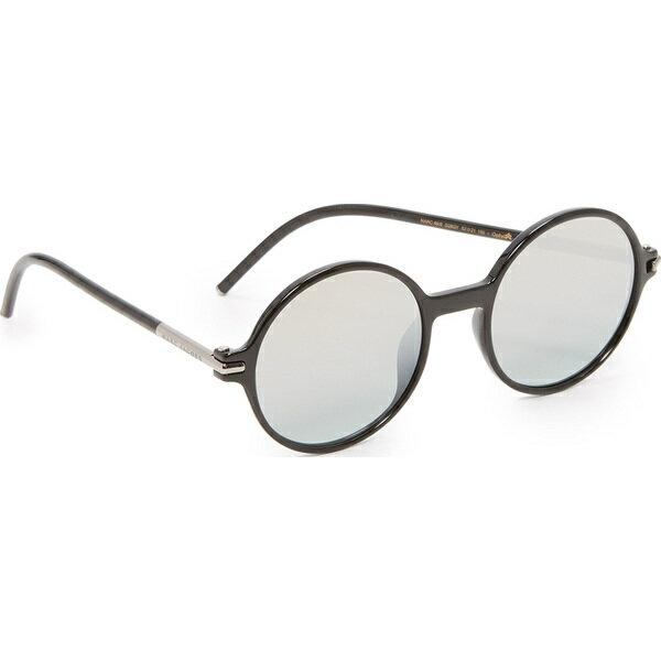 (取寄)Marc Jacobs Perfectly Round Sunglasses マークジェイコブス パーフェクトリー ラウンド サングラス Shiny Black/Brown Gold