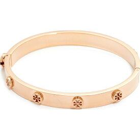 (取寄)Tory Burch Logo Stud Hinge Bracelet トリーバーチ ロゴ スタッズ ヒンジ ブレスレット Rose Gold