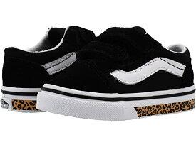 (取寄)バンズ オールド スクール V (インファント/トドラー) Vans Kids Old Skool V (Infant/Toddler) (Animal Sidewall) Leopard/Black
