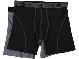 (取寄)アディダス メンズ スポーツ パフォーマンス クリマライト 2パック ボクサー ブリーフ adidas Men's Sport Performance ClimaLite 2-Pack Boxer Brief Black/Thunder/Thunder/Black