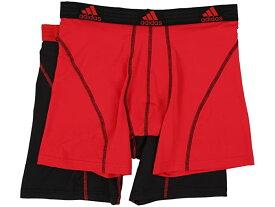 (取寄)アディダス メンズ スポーツ パフォーマンス クリマライト 2パック ボクサー ブリーフ adidas Men's Sport Performance ClimaLite 2-Pack Boxer Brief Real Red/Black/Black/Real Red