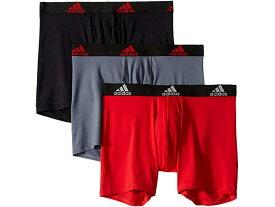 (取寄)アディダス メンズ クリマライト ボクサー ブリーフ 3パック adidas Men's Climalite Boxer Brief 3-Pack Scarlet/Black/Black/Black Onix/Black