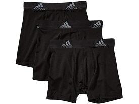 (取寄)アディダス ボーイズ キッズ スポーツ パフォーマンス クリマライト 3パック ボクサー ブリーフ (ビッグ キッズ) adidas Boy's Kids Sport Performance Climalite 3-Pack Boxer Brief (Big Kids) Black/Black/Black
