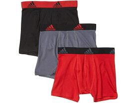(取寄)アディダス ボーイズ キッズ スポーツ パフォーマンス クリマライト 3パック ボクサー ブリーフ (ビッグ キッズ) adidas Boy's Kids Sport Performance Climalite 3-Pack Boxer Brief (Big Kids) Scarlet/Black Black/Scarlet Onix/Black