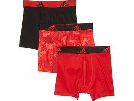 (取寄)アディダス ボーイズ キッズ スポーツ パフォーマンス クリマライト グラフィック 3パック ボクサー ブリーフ (ビッグ キッズ) adidas Boy's Kids Sport Performance Climalite Graphic 3-Pack Boxer Brief (Big Kids) Scarlet/Continent Camo/Black/Scarlet