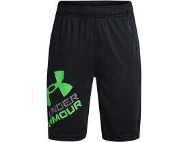 (取寄)アンダーアーマー ボーイズ キッズ プロトタイプ 2.0 ロゴ ショーツ (ビッグ キッズ) Under Armour Boy's Kids Prototype 2.0 Logo Shorts (Big Kids) Black/Stadium Green