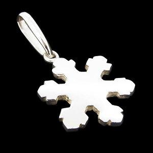 雪の結晶スノーフレーク ダイヤモンドダスト氷 ネックレス ペンダントトップ メンズ シルバー925 送料無料 レディース シンプル 2 メンズ レディース ホワイトデー お返し 可愛い おしゃれ