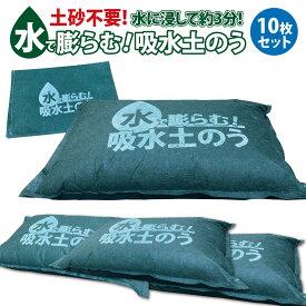 土のう 土嚢 水で膨らむ土のう 10枚入り 袋 土のいらない 土のう袋 土嚢袋 水害対策 防災グッズ w-donou10