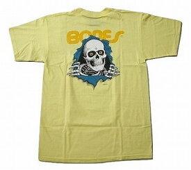 POWELL PERALTA パウエル RIPPER リッパー ノゾキボーンズ Tシャツ 黄 バナナイエロー