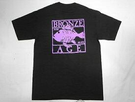 BRONZE AGE ブロンズエイジ ネオンカラーシリーズ スクエア フィッシュ Tシャツ 黒xパープル