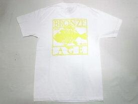 BRONZE AGE ブロンズエイジ ネオンカラーシリーズ スクエア フィッシュ Tシャツ 白xイエロー