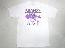BRONZE AGE ブロンズエイジ ネオンカラーシリーズ スクエア フィッシュ Tシャツ 白xパープル