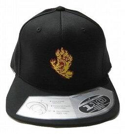 SANTA CRUZ サンタクルーズ FLAMEHAND フレイムハンド FLEXFIT 110 SNAPBACK CAP スナップバックキャップ 黒 ブラック