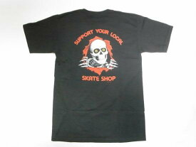 POWELL PERALTA パウエル リッパー SUPPORT YOUR LOCAL SKATE SHOP Tシャツ 黒 ブラック