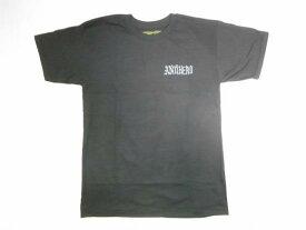 ANTIHERO アンタイヒーロー LINDIG HERO 18 リンディグロゴ Tシャツ 黒x灰 ブラックxグレー