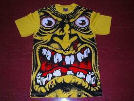 SANTACRUZ サンタクルズ ROBFACE Tシャツ黄 ロブロスコップ