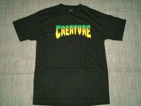 CREATURE クリーチャー ロゴ Tシャツ 黒x緑
