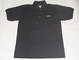 CREATURE クリーチャー 刺繍ロゴ ポロシャツ 黒