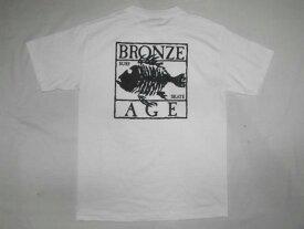 BRONZE AGE ブロンズエイジ SQUARE スクエアフィッシュ ロゴ Tシャツ ホワイト 白