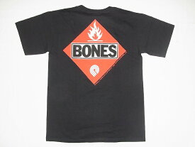POWELL パウエル FLAMMABLE BONES Tシャツ 黒