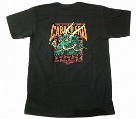 POWELL PERALTA パウエル CABALLERO STREET DRAGON 2 キャバレロ ストリートドラゴン 2 Tシャツ 黒 ブラックxグリーン